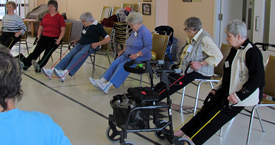 QLC Residents Exercising