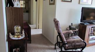 View of two bedroom hallway