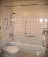 Bathroom With Safety Grab Bars image